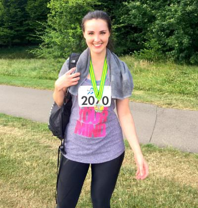 We Run Client Kate after completing her 10k
