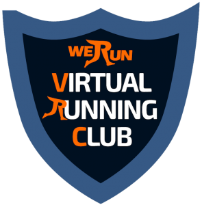virtual running club logo transparent